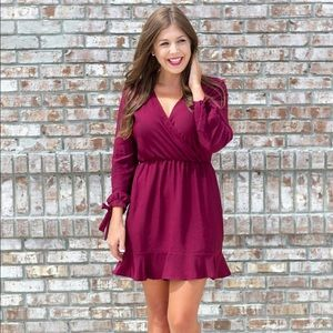 Long Sleeve Wrap Dress - NWT - SMALL-LARGE